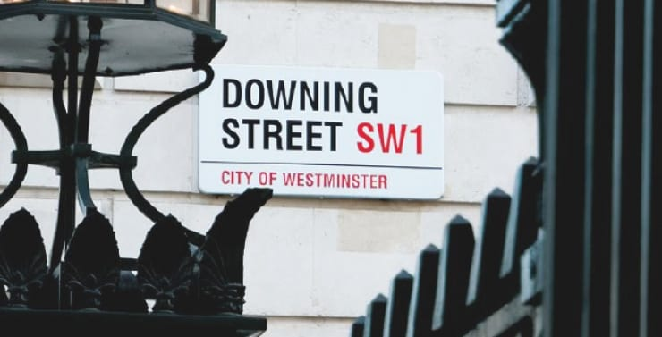 Property Vision sign of Downing Street